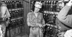 """Woman Coal Miner Getting for the Shift. Consol Westland #2 Mine, Pennsylvania"" by Ted Wathen"