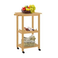 Shop for Scandinavian Lifestyle Atlantic Kitchen Trolley. Get free shipping at Overstock.com - Your Online Kitchen