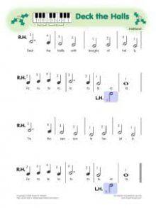 Deck the Halls - pre-staff notation