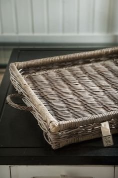 rattan serving tray