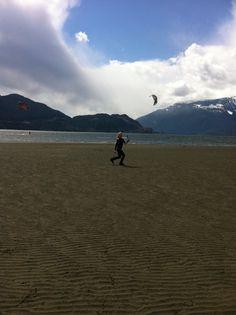were flying kites??
