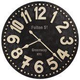 "Found it at Wayfair - Fulton Street Oversized 36"" Wall Clock $271"