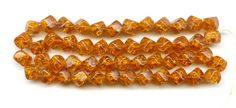 Sold Vintage Topaz Crackle Glass Cube Beads W German by PickleValentine sold