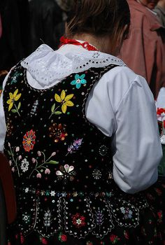 polish velvet embroidered vest