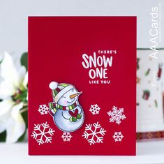 If you are looking for a Clean and Simple Style card recipe, how about playing a new AAA Cards Challenge game? Winter Cards, Holiday Cards, Christmas Cards, Xmas, Christmas 2017, Christmas Ideas, Honey Bee Stamps, Snowman Cards, Card Making Techniques