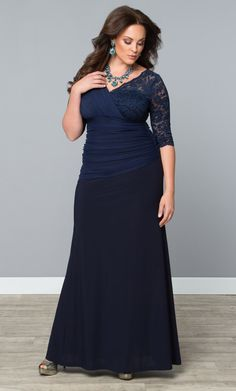b7974c6813642 Check out the deal on Soiree Evening Gown at Kiyonna Clothing Formal Gowns