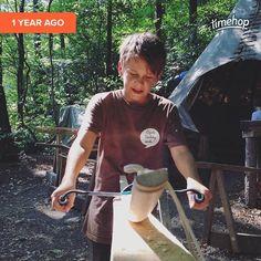 Letztes Jahr beim #bogenbau #camp mit Artur der Flinken Fledermaus / In 3 Stunden beginnt das camp! :)