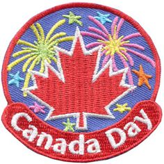 Canada Day (Iron On) Embroidered Patch by E-Patches & Crests Canadian Holidays, Custom Embroidered Patches, Labour Day, Merit Badge, Canada Day, Family Day, Crests, Iron On Patches, Girl Scouts