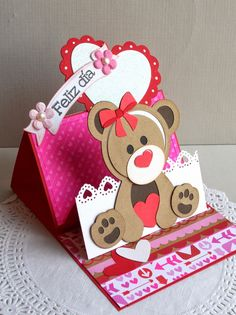 Pop Up Cards, Cute Cards, Valentine Day Cards, Valentine Crafts, Bday Cards, Baby Kind, Paper Cards, Kids Cards, Greeting Cards Handmade