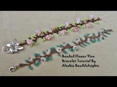 Beaded Flower Vine Bracelet Tutorial - YouTube