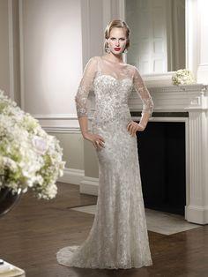 Ronald Joyce UK vintage lace wedding gown.