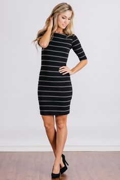 - Description - Details - You know it's true love when you keep falling in love over and over. That's exactly how you'll feel about the Love Entourage Dress by Lucy Love! A stretchy jersey knit dress
