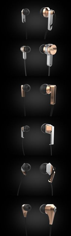 Earbud Form Study - From Behance, Multiple owners: Austin Scott & Info Subliminal