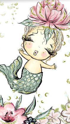Super little mermaid wallpaper backgrounds art prints ideas Mermaid Room, Baby Mermaid, Mermaid Art, The Little Mermaid, Mermaid Bathroom, Cute Wallpapers, Wallpaper Backgrounds, Manga Kawaii, Bathroom Art