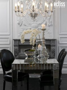 Glass Candelabra Package - white hydrangeas and cream roses from sia ...