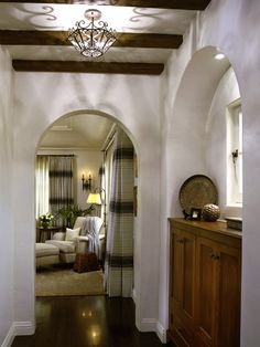 Mediterranean Clic Bedroom Los Angeles By Tommy Chambers Interiors Inc Love The Archways Wall Color And Beams