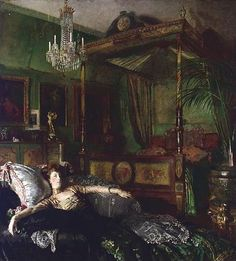 Interior At Clonsilla With Mrs St George ~  William Orpen ~ (1878-1931)