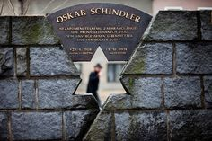 A monument dedicated to Oskar Schindler located in front of his birthplace in Svitavy, Czech Republic. http://blog.oka2.com/?p=1104