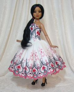~Beautiful Love~ Strapless Silk and Lace Dress for Ellowyne Wilde, by jerpego via eBay BIN $65.00