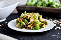 Coconut Toasted Brussels