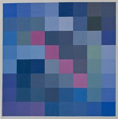 Tavola di pentamini con colori freddi e contrasti caldi in diagonale.
