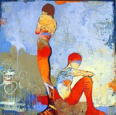 Abstract Figurative Art, painting Rara Avis1, by Jylian Gustlin, my favorite painter.