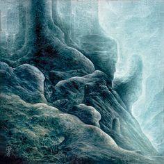 """Méditation"" Huile sur toile.20 x 20cm/ ""Meditation"" Oil on canvas.'8 x '8.Pascal Ferry.2017"