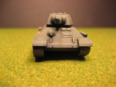 Flames of War, Russian T-34/76 tank, front view
