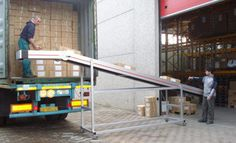 conveyor belts for loading and unloading goods
