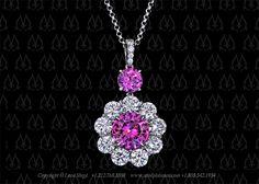 Pink sapphire pendant by Leon Mege