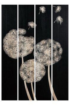 Paneled art piece ~ Dandelions