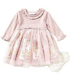 Bonnie Baby Baby Girls Newborn24 Months Popover Floral Mesh Dress #Dillards