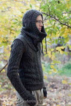 Winter Cardigan Outfit, Cardigan Outfits, Knitwear Fashion, Dog Pattern, Balaclava, Knit Jacket, Winter Sweaters, Crochet Clothes, Knit Crochet