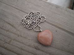 Rhodonite Heart Pendant Necklace by tlw1212 on Etsy