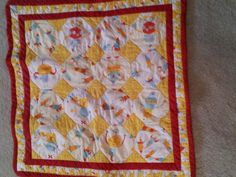 """""""Robots and Diamonds"""" - a baby quilt."""
