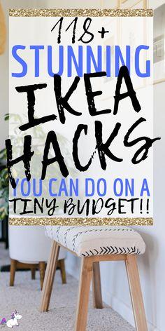 Best Ikea Hacks, Diy Ikea Hacks, Life Hacks Diy, Organizing Hacks, Ikea Organization, House Hacks, Diy Home Decor Projects, Diy Home Crafts, Home Craft Decor