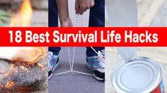 18 Best Survival Life Hacks You Should Learn Right Now ! Off Grid Survival, Survival Life Hacks, Amazing Life Hacks, Facebook, Learning, Videos, Diys, Survival Tips, Bricolage