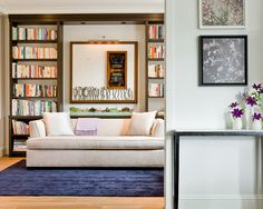 Furniture, Modern Interior House Design With White Sofa Sleeper With Blue Rug Ideas And Library Furniture Ideas: Sleeper Sofa Choices For Your Small Apartment