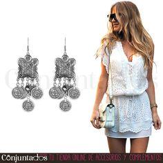 Los #pendientes Naisha de estilo boho-chic es ideal para tu verano ibicenco, marbellí o miamense ★ 11,95 € en https://www.conjuntados.com/es/pendientes/pendientes-largos/pendientes-naisha-de-estilo-etnico-con-monedas.html ★ #novedades #earrings #conjuntados #conjuntada #joyitas #lowcost #jewelry #bisutería #bijoux #accesorios #complementos #moda #fashion #fashionadicct #picoftheday #outfit #estilo #style #GustosParaTodas #ParaTodosLosGustos
