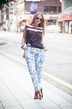 Sheinside Pants, Julien Top, Balenciaga Clutch Bag, Celine Glasses
