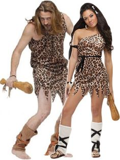 Perfect outfit and accessories for any Caveman, Cavegirl Prehistoric parties. 40th Birthday Party Themes, Costumes For Women, Female Costumes, Caveman Costume, Couples Fancy Dress, Couple Halloween Costumes, Halloween Stuff, Costume Ideas, Peplum Dress