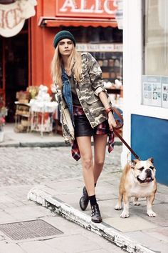 Layers of prints in urban #punk style I Cara Delevingne Pepe Jeans London Autumn Winter 2013 Campaign