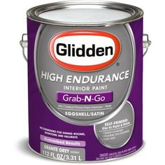 Glidden High Endurance Grab-N-Go Granite Grey Eggshell Interior Paint 1 Gallon