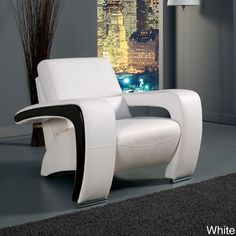 @Overstock - Add a contemporary touch to your home decor with this chair from Enitial Lab. A high-quality leatherette upholstery and silver finish completes this chair.  http://www.overstock.com/Home-Garden/Enitial-Lab-Contemporary-Chair/7326966/product.html?CID=214117 $530.99