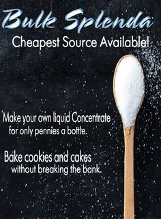Bulk Splenda - Cheapest Source Available! - The Sugar Free Zone  Save hundreds of dollars a year by buying in bulk.