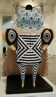 Cat johnston: the god of eyes mixed media sculpture, sculpture art, surrealism sculpture Mixed Media Sculpture, Sculpture Art, Surrealism Sculpture, Arte Fashion, Arte Obscura, Arte Tribal, Bizarre, Arte Horror, Wow Art