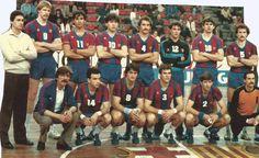 La temporada 1983–84 és el primer cop que l'equip titular de Handbol del F.C. Barcelona guanya un títol Europeu (La Recopa d'Europa)