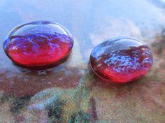 Vintage Dragons Breath Gems Or Mexican Opal Glass Gems 13x18mm. $4.50, via Etsy.