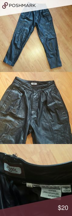Toff's 100% Genuine Leather riding pants 2 petite Very nice pre-owned condition. Toff's  Other