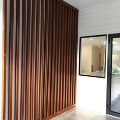 Stained Timber Feature Wall - Neilsen's Painting - House Painting Brisbane Timber Feature Wall, Feature Walls, Project Success, Fireplace Wall, Home Reno, Reno Ideas, House Painting, Cladding, Brisbane